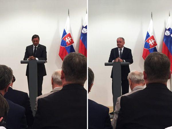 Prezidenti Kiska a Pahor na biznis fóre, Slovinsko 23.4.2018, TULIP Solutions v publiku