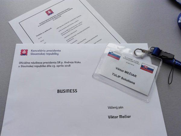 pozvanie na podnikatelsku misiu s prezidentom kiskom pre TULIP Solutions