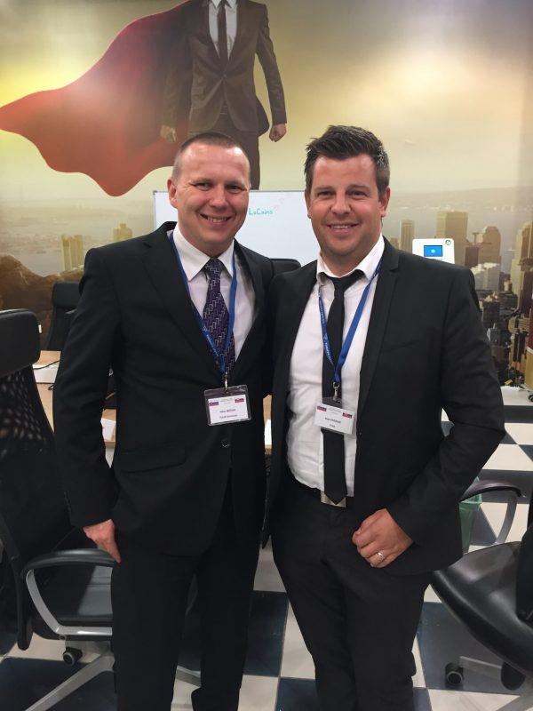 Viktor Mečiar a Blaž Kržišnik na biznis fore, TULIP Solutions