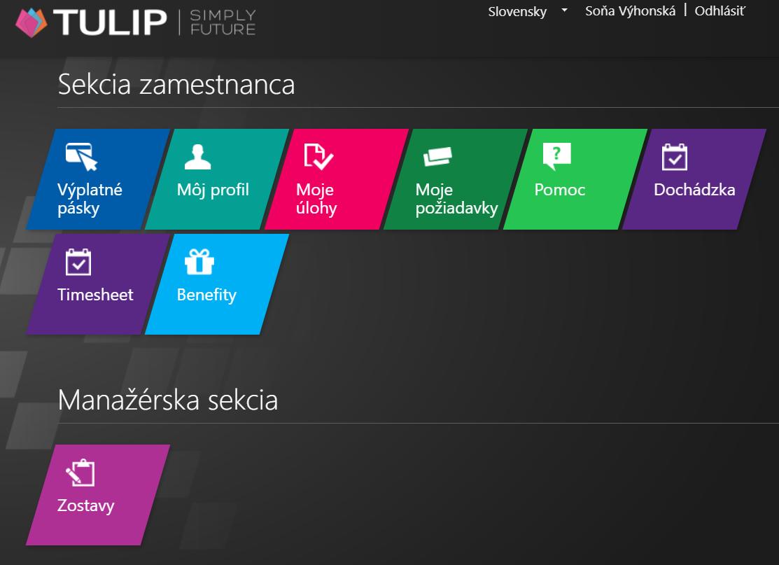 online dochádzkový systém tulip