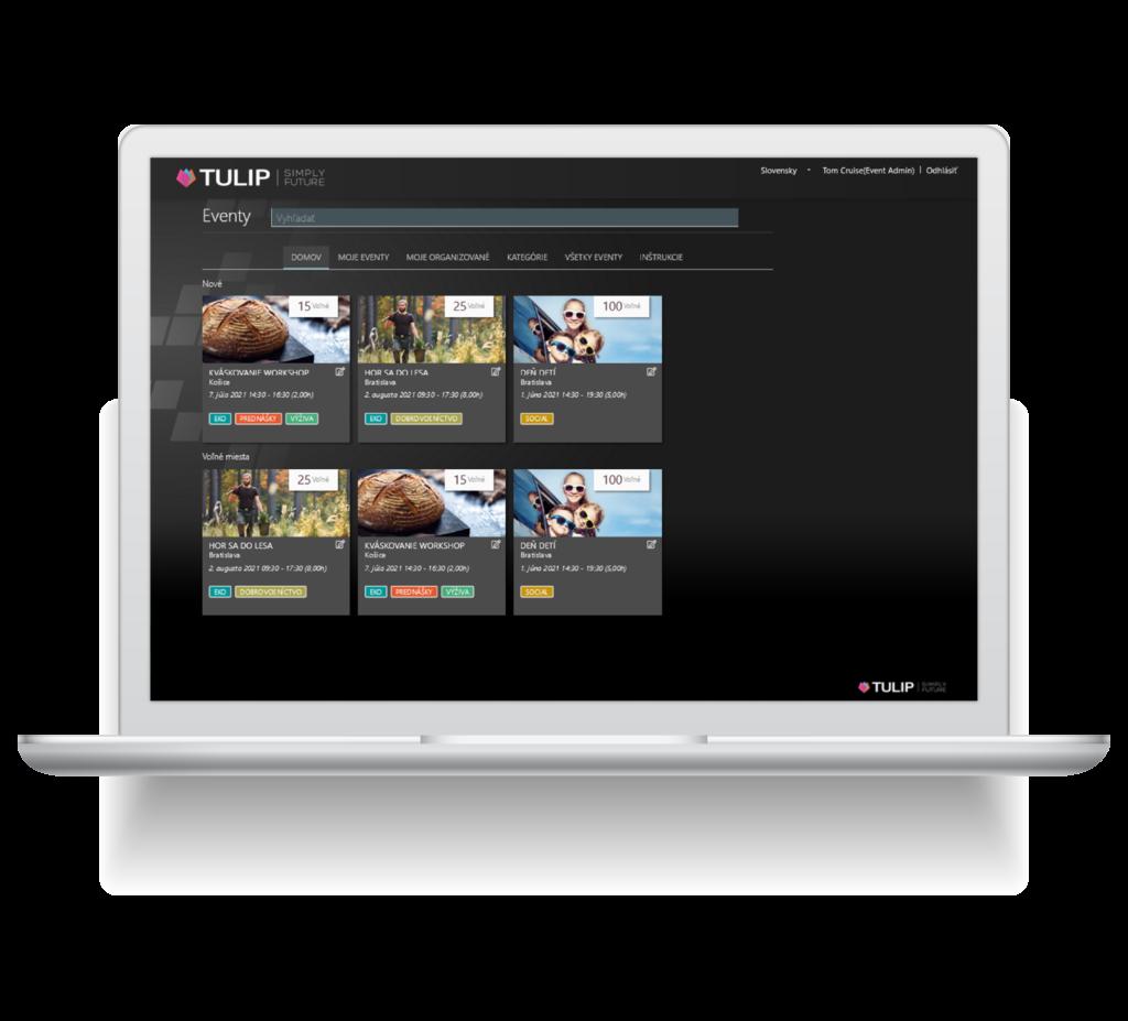 screen platformy tulip na planovanie firemnych eventov v cloude